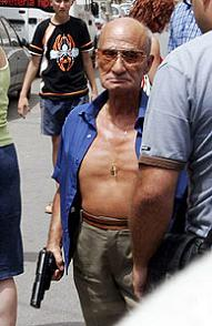 Capanelle, el actor italiano rueda de nuevo en Almeria.